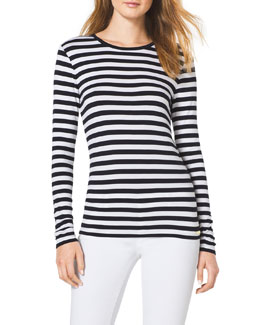 MICHAEL Michael Kors  Striped Knit Top