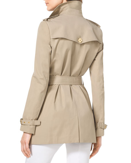 Short Cotton-Blend Trenchcoat
