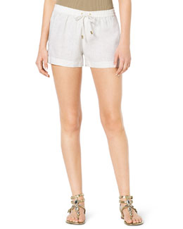 MICHAEL Michael Kors  Pull-On Linen Boxer Shorts