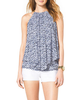 MICHAEL Michael Kors  Chain-Neck Layered Top