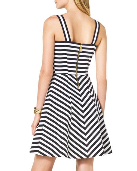 Striped Ponte Dress