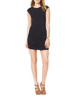 MICHAEL Michael Kors  Drawstring-Side Ruched Dress