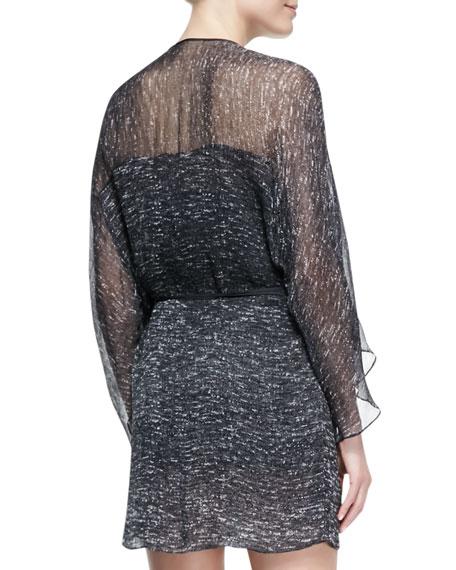 Printed Georgette Raglan Wrap Dress