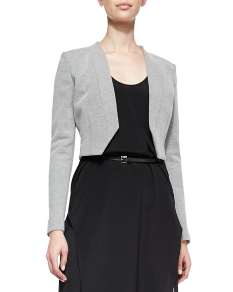 Cropped Double-Face Knit Blazer