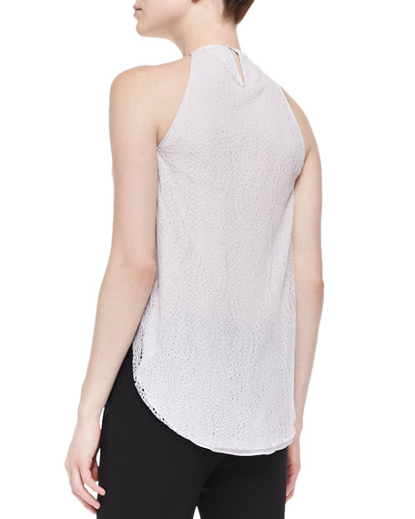 Lace-Back High-Neck Top