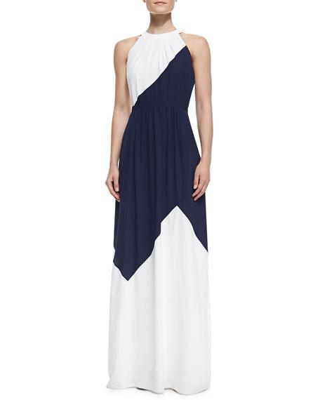 Halter Combo Maxi Dress