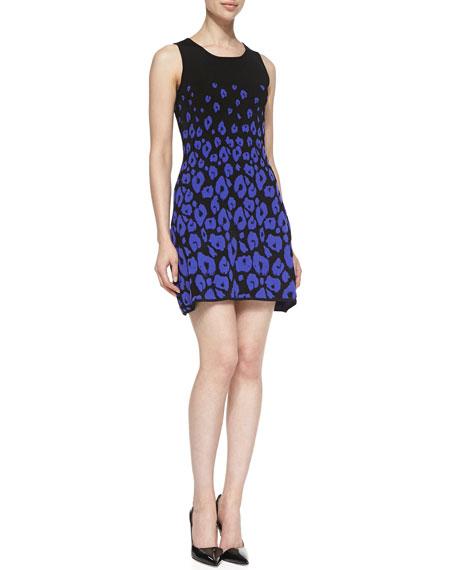 Sleeveless Leopard-Print Fit & Flare Dress