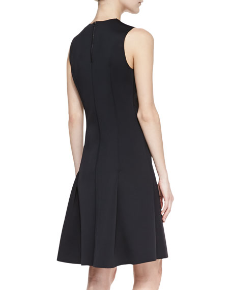 Alexa Sleeveless Pleat-Skirt Dress