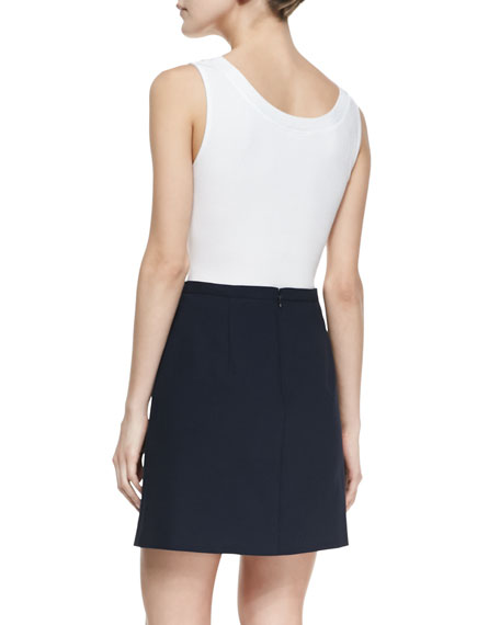 Double-Face Stretch Skirt, Midnight