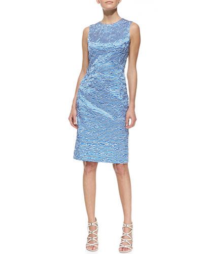 Michael Kors Origami-Stripe Silk Dress