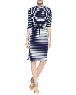 Michael Kors Nautical Striped Jersey Dress