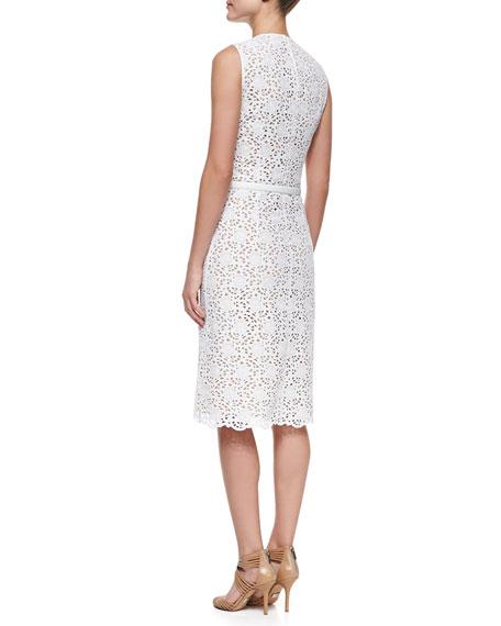 Sleeveless Eyelet Dress, Optic White