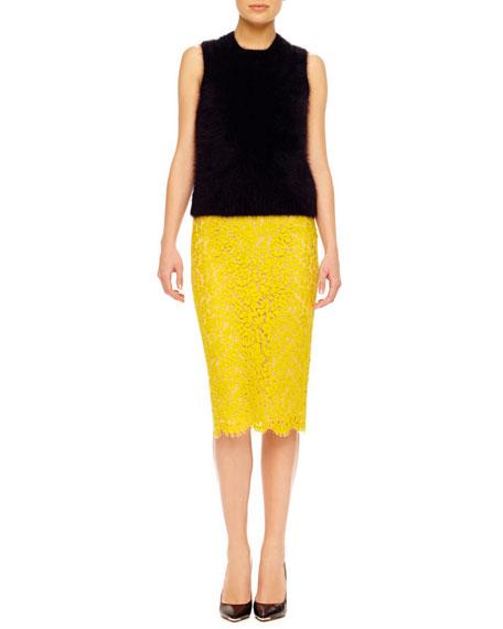 Floral Lace Pencil Skirt