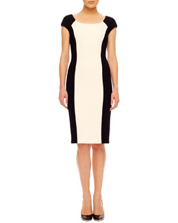 Michael Kors Two-Tone Crepe Dress