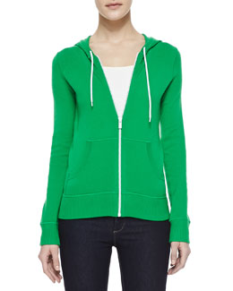 Michael Kors Hooded Cashmere Sweatshirt, Palm