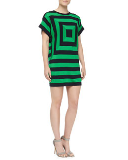 Michael Kors Cashmere Bullseye Sweater Dress
