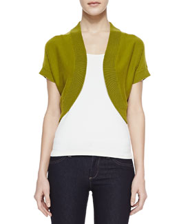 Michael Kors Cashmere Short-Sleeve Shrug, Leaf