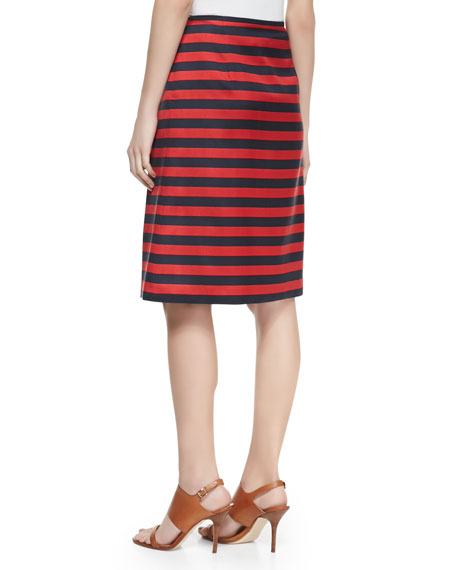 Cabana Striped Pleated Skirt