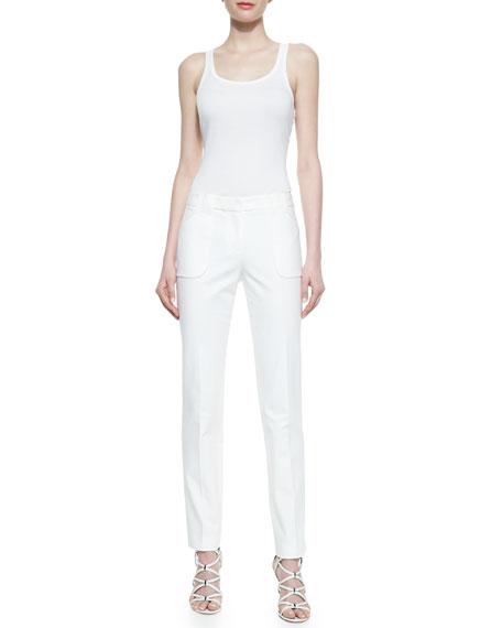 Eva Broadcloth Utility Pants, Optic White