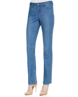 Christopher Blue Madison Straight-Leg Livia Jeans