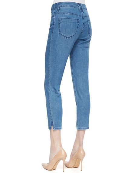 Joan Long Cropped Jeans, Indigo