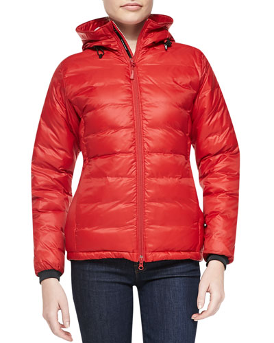Camp Hooded Packable Puffer Coat, Red