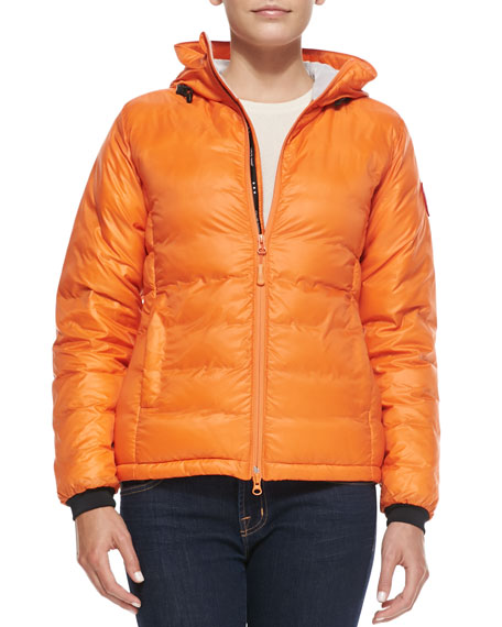 Camp Hooded Puffer Coat, Orange