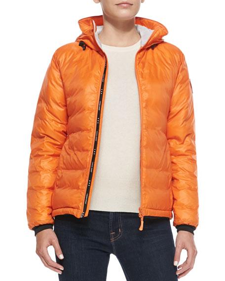 Camp Hooded Puffer Coat, Orange