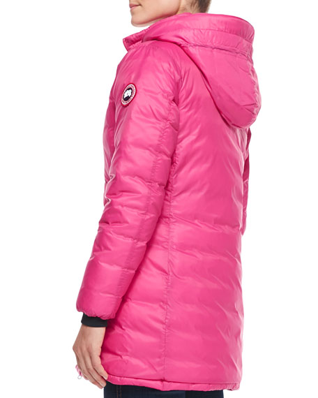 Canada Goose expedition parka online 2016 - Canada Goose Camp Hooded Mid-Length Puffer Coat, Summit Pink