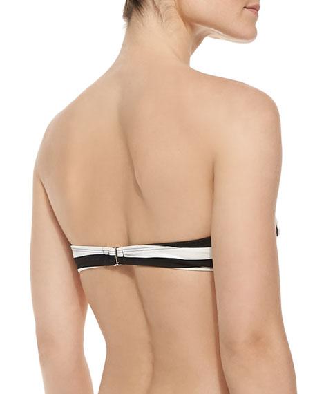 Cabana Stripe Underwire Bandeau Bikini Top