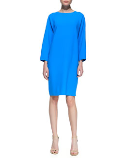Michael Kors Double-Face Dolman-Sleeve Shift, Pool