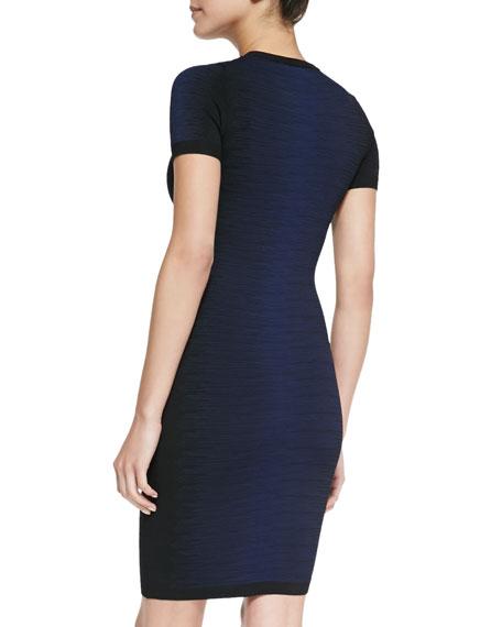 Danni Degrade Body Conscious Dress, Prussian Blue