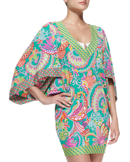 Festival Folkloric Woven Three-Quarter-Sleeve Tunic