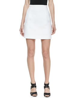 Michael Kors Mini Bell Cotton Skirt, Optic White