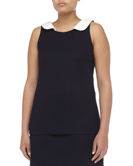 Michael Kors Sleeveless Bib Broadcloth Top, Women's