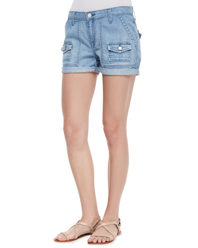 Joie So Real Cuffed Denim Shorts, Hydra