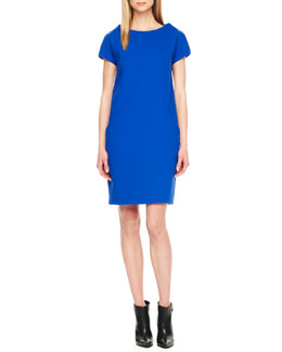 Michael Kors Boucle Shift Dress, Royal
