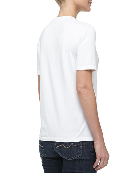 Lisle Short-Sleeve Tee, Optic White