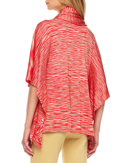 Space-Dye Poncho Sweater