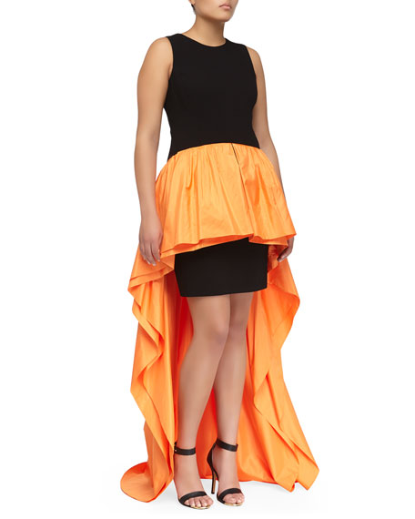 Crepe Tank Peplum Gown