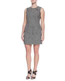 Michael Kors Tweed Jacquard Origami Sheath Dress, Women's