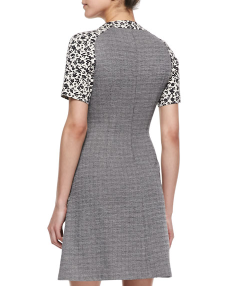 Short-Sleeve Panel-Waist Dress