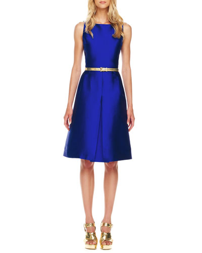 Michael Kors A-Line Shantung Dress