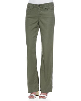 NYDJ Wylie Linen-Cotton Trousers