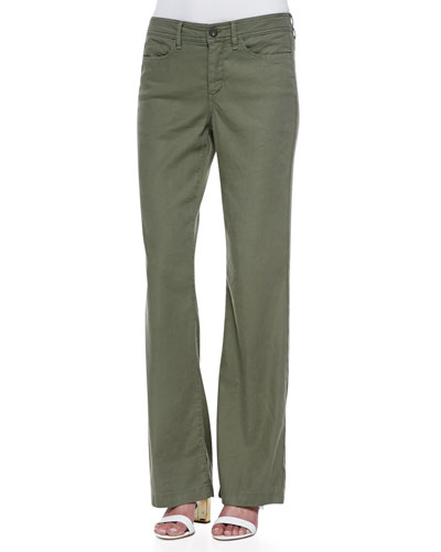 NYDJ Wylie Linen-Cotton Trousers