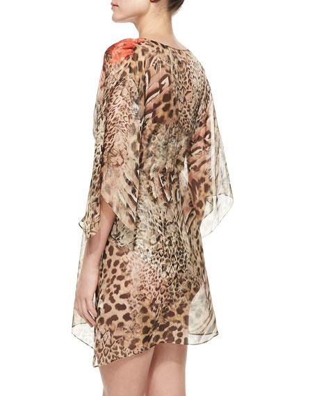 Maculato Leopard-Print One-Piece Bandeau Swimsuit