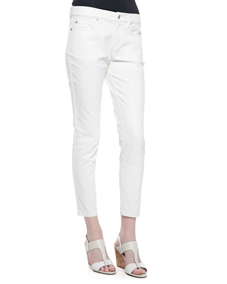Organic Jacquard Skinny Ankle Jeans