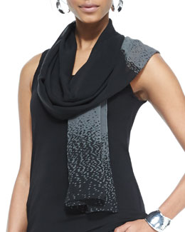 Eileen Fisher Dappled Sheer Silk Scarf