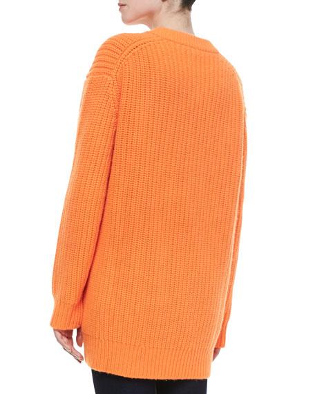 Cashmere Shaker Zip Cardigan
