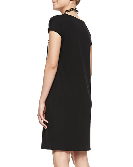 V-Neck Shift Dress, Women's